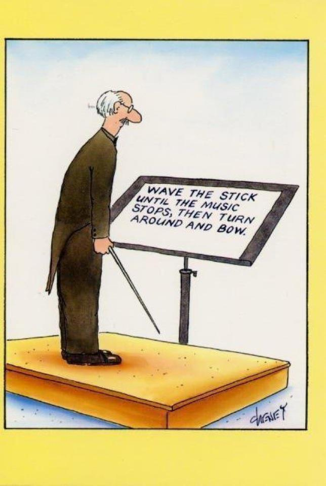 Cheney conductor cartoon