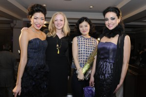 People's Choice winner Teresa Calabro and Project Debussy winner Kowoon Jeong with their models