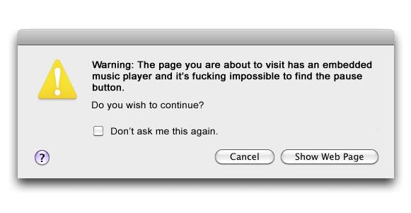 Warning music player
