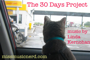 30 Days postcard front