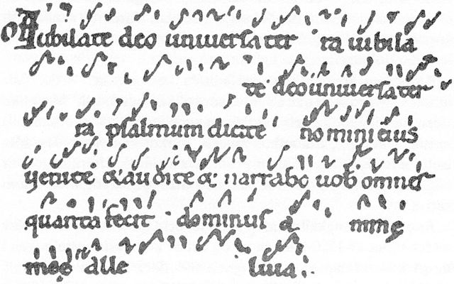 Early Neume notation