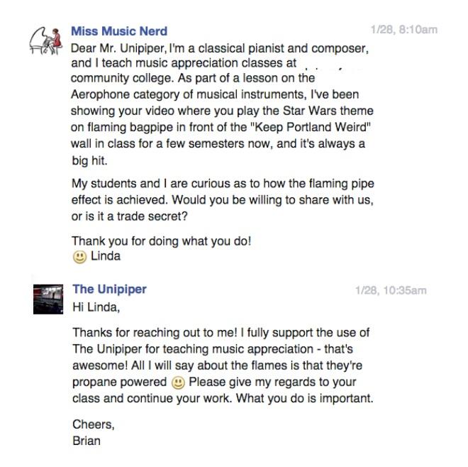 Unipiper FB msg & reply