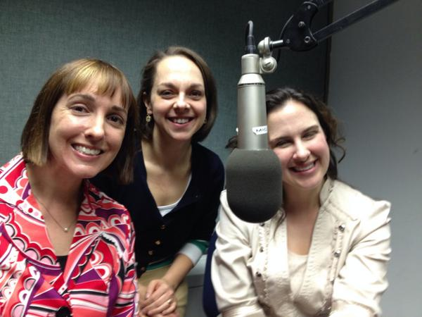 PNME Power Trio in the WQED studio! L to R: MMN, Pam Murchison, Jennie Dorris. Photo: Jim Cunningham
