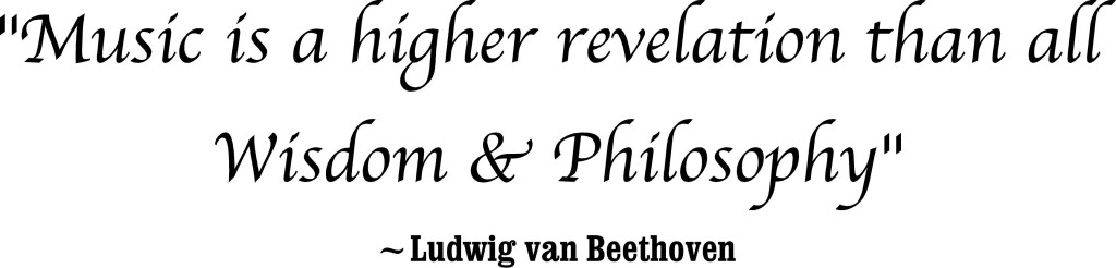 music is beethoven quote